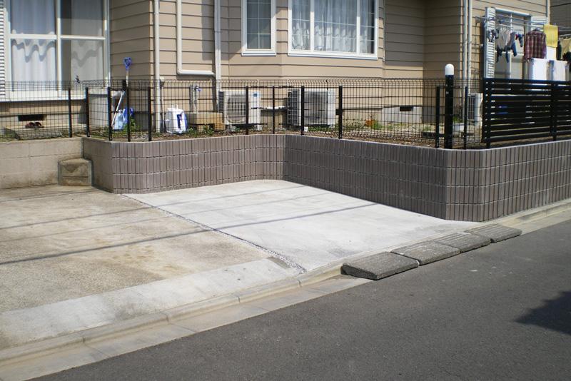 駐車場の拡張工事施工後2
